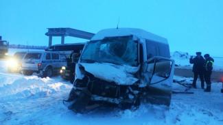 На трассе под Воронежем в столкновении рейсового автобуса и микроавтобуса погиб мужчина
