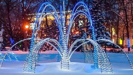 В воронежском Кольцовском сквере начали монтаж зимнего фонтана