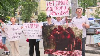 Возмущённые вырубкой сквера на Лизюкова воронежцы пикетировали офис застройщика