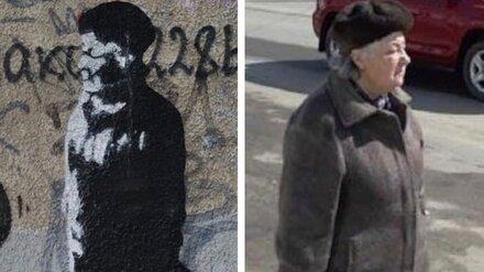 В Воронеже появилось граффити с изображением известной «бабушки-регулировщицы»