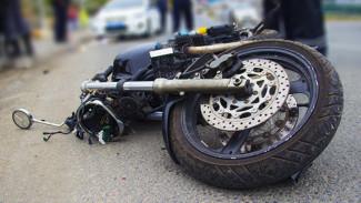 На воронежской трассе пьяный водитель сбил мотоциклиста и скрылся