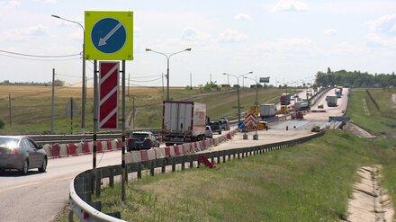 В Воронежской области ради отпускников открыли проезд по мосту через Хворостань
