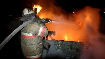 Ночью в Воронеже сгорела баня