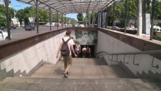 Мэрия Воронежа сорвала сроки установки подъёмника в переходе у Петровского сквера