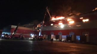 В МЧС назвали причину пожара в распределительном центре «Магнита» под Воронежем