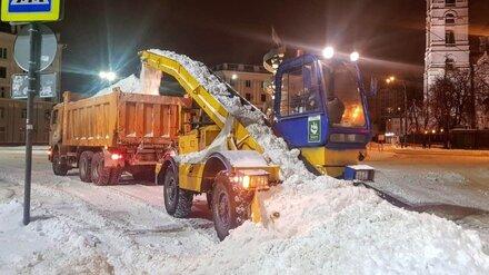 В центре Воронежа перекроют несколько улиц для уборки снега