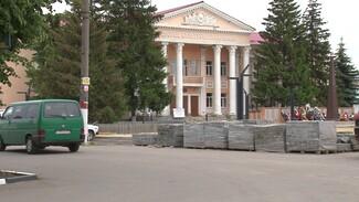 Ремонт центральной площади в воронежском райцентре затянули на полгода