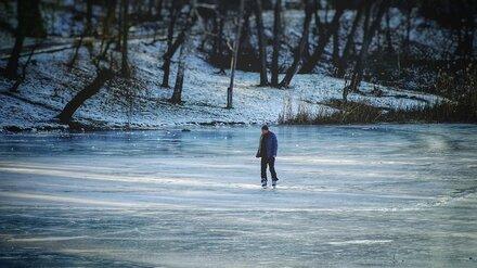Спасатели проверили толщину льда на Воронежском водохранилище