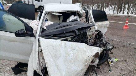 Полиция показала фото жуткого ДТП с погибшим на воронежской трассе