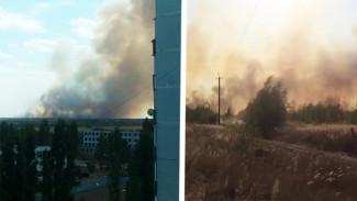 Воронежцы сообщили о крупном пожаре на военном полигоне