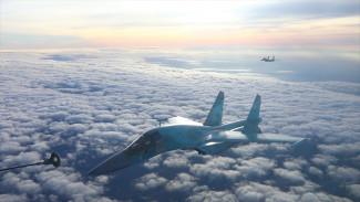 Военные показали дозаправку самолётов в небе над Воронежской областью