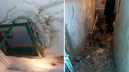 Подвал пятиэтажки в центре Воронежа залило нечистотами