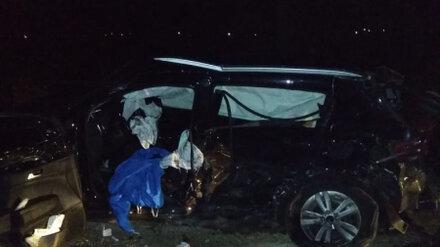 Полицейские показали фото с места смертельной массовой аварии в Воронежской области