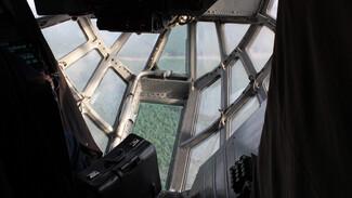 Появились фото и видео с борта самолёта, задействованного в тушении Воронежской области