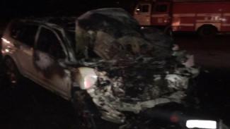 В Воронеже на Левом берегу ночью сгорела иномарка Mitsubishi