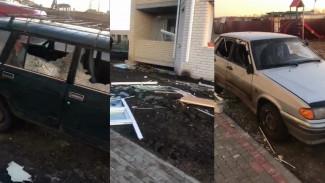 Появилось видео последствий мощного взрыва в новостройке в Воронежской области