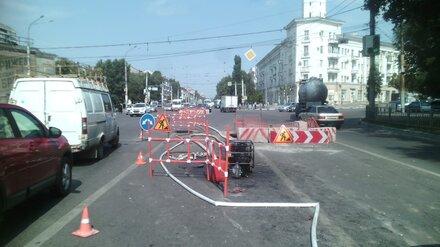 В Воронеже до середины сентября частично перекрыли движение у ДК Кирова