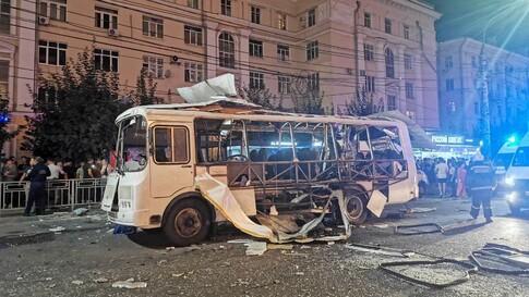 Взрыв автобуса в центре Воронежа