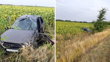 В Воронежской области в перевернувшейся машине погиб водитель