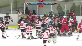 Появилось видео массовой драки между 12-летними хоккеистами из Воронежа и Луганска