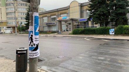 На исчезнувшем пешеходном переходе в центре Воронежа сбили женщину