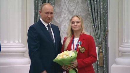 Владимир Путин вручил Орден Дружбы воронежской гимнастке Ангелине Мельниковой
