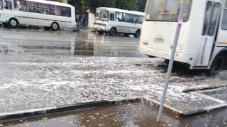 В Воронеже после первого осеннего ливня затопило улицы