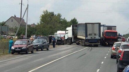 На выезде из воронежского села случилось ДТП с фурой: пострадала женщина