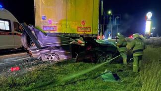 В Воронежской области внедорожник влетел под стоящий на обочине грузовик: трое погибли
