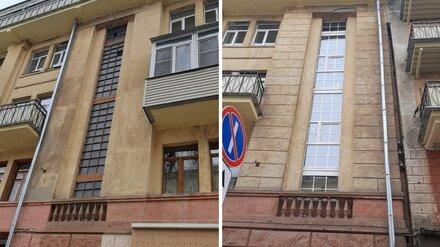 Мэрия прокомментировала замену старинных окон на пластиковые в 90-летнем доме в Воронеже
