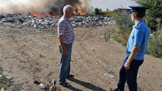 Горящий более 5 суток мусорный полигон отравил жизнь жителям Воронежской области