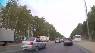 В Воронеже наказали объезжавшего пробку по обочине водителя маршрутки