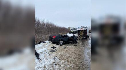 Полиция показала жуткие фото последствий ДТП с легковушкой и фурой в Воронежской области