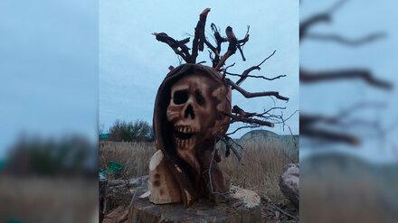 Жуткую скульптуру коронавируса сожгут в Воронеже