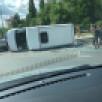 Маршрутка с пассажирами перевернулась на Московском проспекте в Воронеже