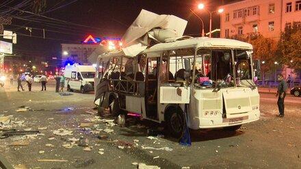 Четыре пассажира взорвавшейся маршрутки в Воронеже остаются в реанимации