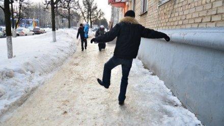 Из-за гололёда в Воронежской области пострадали более тысячи человек
