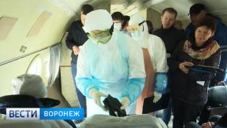 В Воронежском аэропорту отработали учения с заражением холерой
