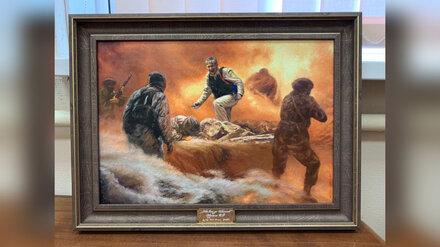 Картина о подвиге воронежского героя Романа Филипова появилась в Музее Победы в Москве