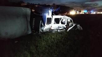 Появились фото и видео с места страшного ДТП в Воронежской области, где погибли 4 человека