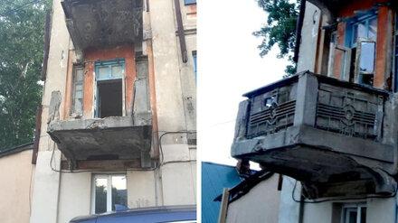 Неизвестные разломали чугунный балкон столетнего Дома Фирюпкина в Воронеже