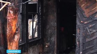 В Павловске на пожаре погибла женщина