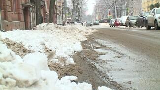 Воронежцы пожаловались на заваленные снегом платные парковки