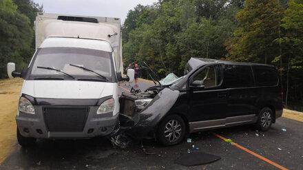 В Воронежской области минивэн влетел в «Газель»: пострадали двое