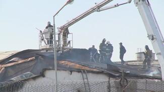 Появилось видео пожара в колонии под Воронежем