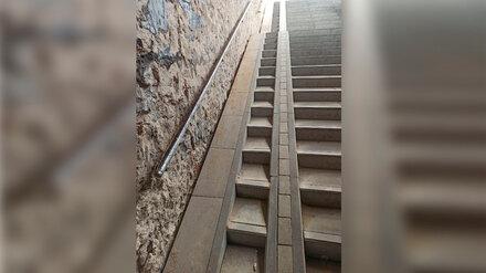 Воронежцы раскритиковали новые пандусы в ремонтируемом переходе у политеха
