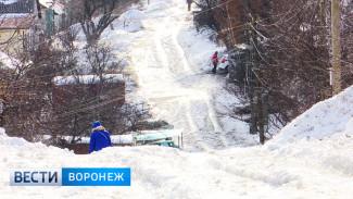 Улицы частного сектора Воронежа превратились в ледяные горки