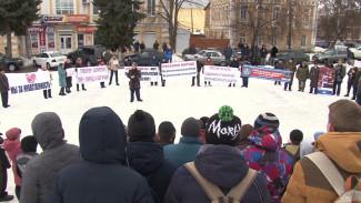 В Воронежской области казаки вышли на митинг против гей-парада