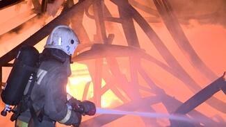 Спасатели назвали возможные причины ночного пожара на обувном складе в Воронеже
