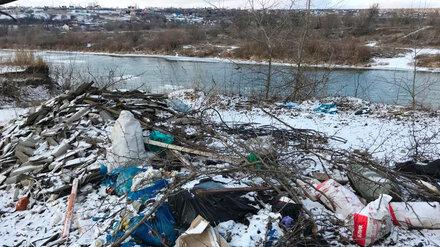 На берегу реки Дон под Воронежем нашли 9 больших свалок